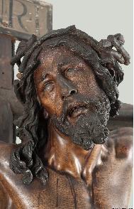 Detalle de la imagen del Cristo de Bergara_Eugenio Fernández Ruiz_IAPH