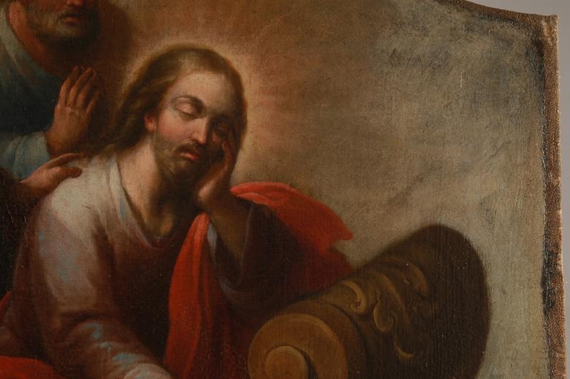 Jesús calmando la Tempestad. Detalle. Estado final